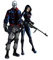 Destro and Baroness by iliaskrzs
