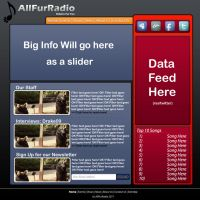 AllFurRadio Template 2 by Drake09
