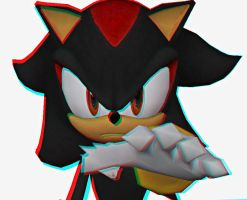 Shadow The Hedgehog 3D Hand by shadow759