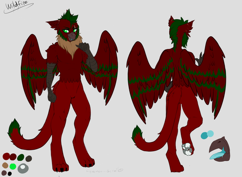 Wildfire anthro furry ref by Cinnamon-scroll