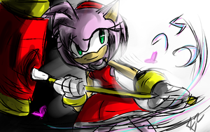 One Hour Sonic Amy rose by Omiza
