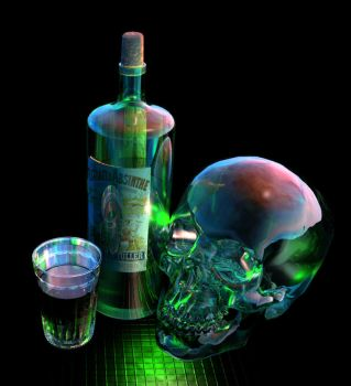 Absinthe-tia (Absinthe and Absentia) by JohnMo