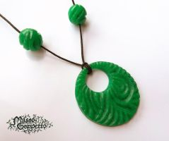 JADE PENDANT POLYMER CLAY by MassoGeppetto