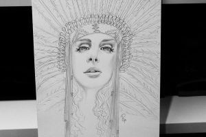 Lana Del Rey Ride video drawing WIP by Madonna1250