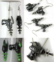 Alien Repellent Earrings by NeverlandJewelry