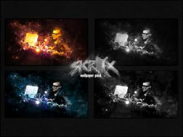 Skr1lleX wallpaper pack 1920x1080 by meta625