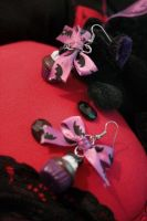 Chocolate Bat Cupcake Earrings by BrysheyrasGifts