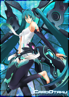 Hatsune Miku Append: Card Sleeve by CardOtaku