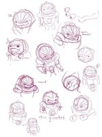 Grunt Sketches by evilsherbear