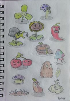 Plants vs Zombies-doodle by StormChaser94