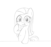 My Happy Face (sketch) by HeavyMetalBronyYeah