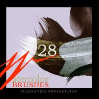 Watercolor brushes Set 6 by Blakravell