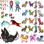 Adopts - Name your price by Skylar-Wolf