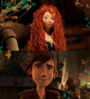 Merida and Hiccup by LameUnicorn