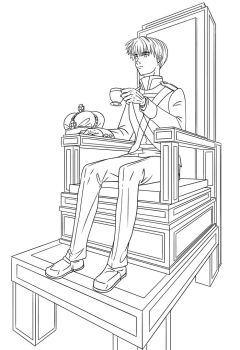 APH-Fancy Chair (Free Line Art) by TheLostHype