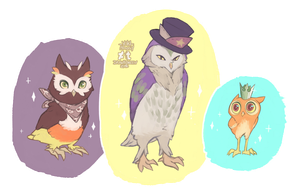 Drawlloween 2016 Day 12 - Owl by Yuki-Almasy