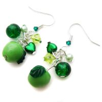 Granny Smith Apple Earrings by fairy-cakes