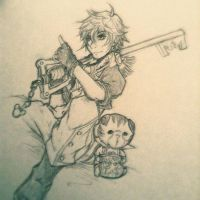 Kingdom Hearts Unchained X: Sketch by Austin-Tyler-Art