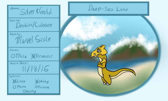 Deep-Sea Lake- Silver and Gold by littlerain999