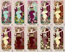 Lady of January Color Palettes by AngelaSasser