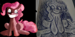 draw it again: My first Pinkie Pie Picture and now by BillyGGruff