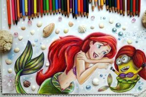 Ariel and Minion by Alena-Koshkar