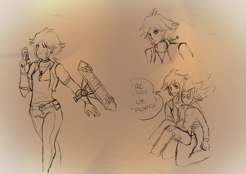 Simple Sketch characters #1 - Yu-Gi-Oh T.A.T by edenclover