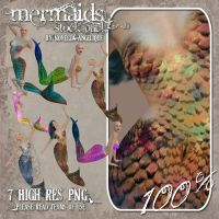 Stock - 3D Mermaids by NorellaAngelique