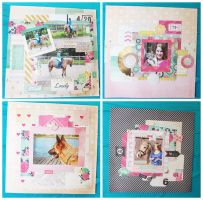 Scrapbook Layouts - Part 2 by Missesglass