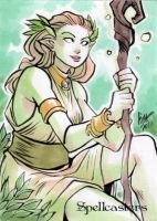 Spellcasters Sketch Card - Irma Ahmed 1 by Pernastudios