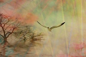 MorningSong of the Fisher King by SharonLeggDigitalArt
