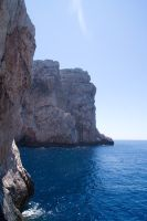 View from ladderr to Grotte Di Nettuno by Almile