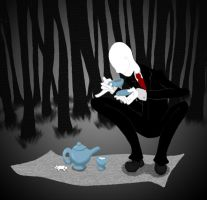 Slenderman Teatime by JadeElements
