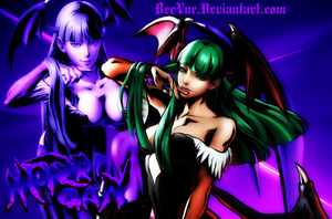 Morrigan Aensland Wallpaper by BeeVue