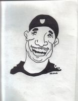 Hines Ward Caricature by Buhla