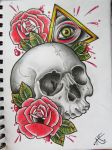 All Seeing Skull by Frosttattoo