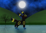 Umbreon - Full moon by SilverShadowfax
