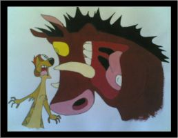 Timone and Pumba by rachiesmif3
