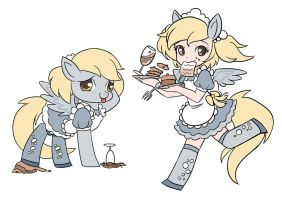 9 collections of MLP maids---derpy by kongyi