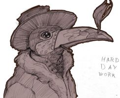 plague doctor by wolfnoom