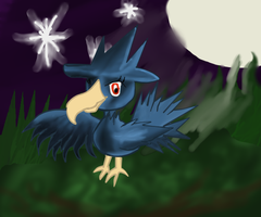 Murkrow (Happy belated birthday, Stella!) by TaiyoPrower