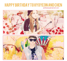 Happy Birthday To Hyoyeon And Chen by pullhwang