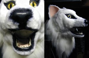 Arctic Fox-wolf Mask Jawset by Monoyasha