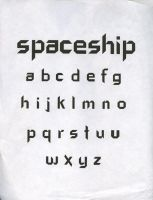 Spaceship Font by starscream45