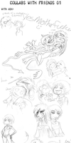 Collabs with friends dump 01 by LiLaiRa