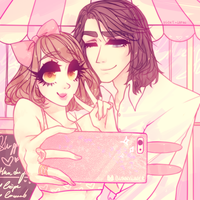 Royal selfie couple by agent-lapin