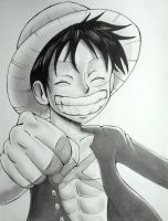 A Fist Bump From Luffy (Request) by RavenDANIELS
