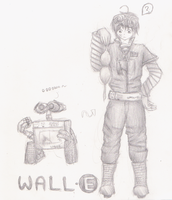 Humanized WALL-E Design by Kittybaka-chan