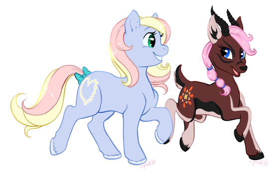 Commission: Ta-Daisy and Delphine by C-Puff