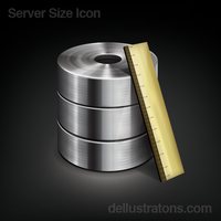 Server Size Icon by dellustrations